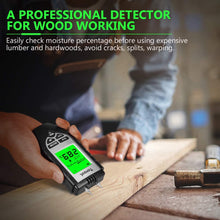 Load image into Gallery viewer, Wood Moisture Meter MT270 black- Digital Moisture Detector Moisture Tester for Wood Building Material Firewood Walls Paper Floor