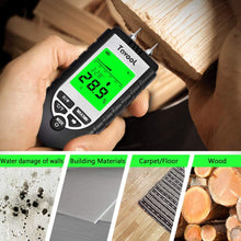Load image into Gallery viewer, Tavool Wood Moisture Meter Digital Pin-Type Water Leak Detector Damp Tester Dampness Meter