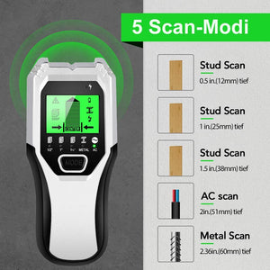 Stud Finder TH510 Sensor Wall Scanner 5 in 1 Electronic Stud Sensor Locator Wood Beam Joist Finders Wall Detector Edge Center Finding with LCD Display