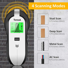 Load image into Gallery viewer, Tavool Stud Finder Sensor Wall Scanner 4 in1Electronic Wall Detector Center Finding TH250