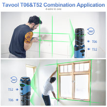 Load image into Gallery viewer, Tavool 100ft Green Laser Level Rechargeable Lithium Battery Type-C  Self Leveing and Manual Mode