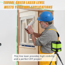 Cargar imagen en el visor de la galería, Tavool laser level 100ft Green Self Leveling Laser Line Level with Horizontal and Vertical