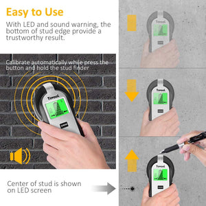 Tavool Stud Finder Sensor Wall Scanner 4 in1Electronic Wall Detector Center Finding TH250