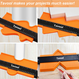 Tavool Contour Gauge with Lock -5 inch & 10 inch Widen with Aluminium Lock Contour Gauge Duplicator for Measuring Corners, Woodworking Project, Tiles and Laminate 2 Pack