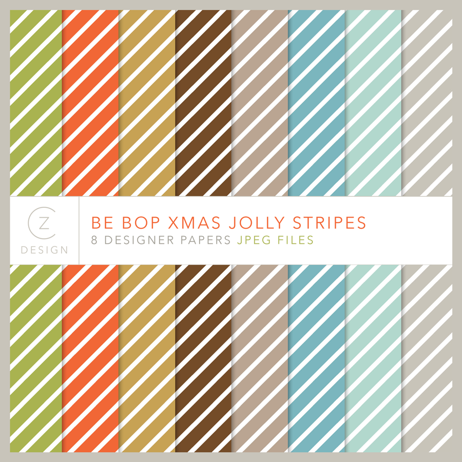 Be Bop Xmas Jolly Stripes Paper Pack