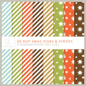 Be Bop Xmas Jolly Stars & Stripes Paper Pack