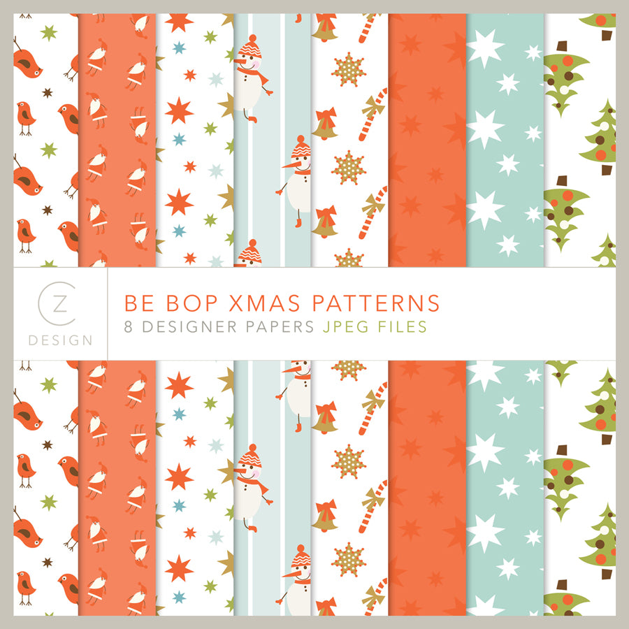 Be Bop Xmas Patterns Paper Pack