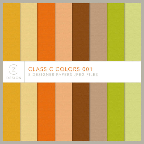Classic Colors 001 Paper Pack