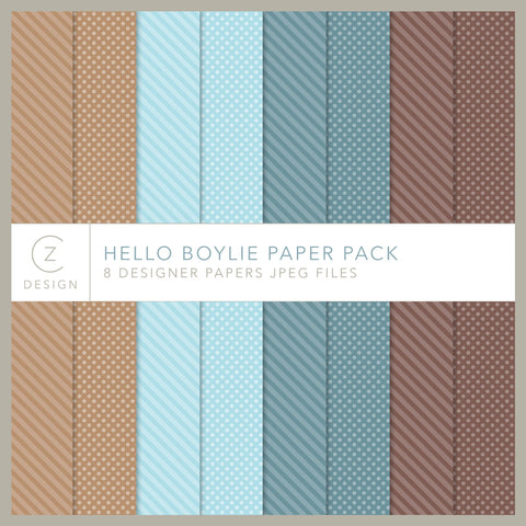 Hello Boylie Paper Pack