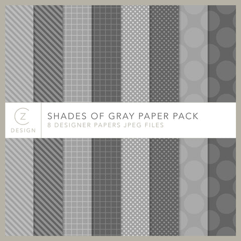 Shades of Gray Paper Pack