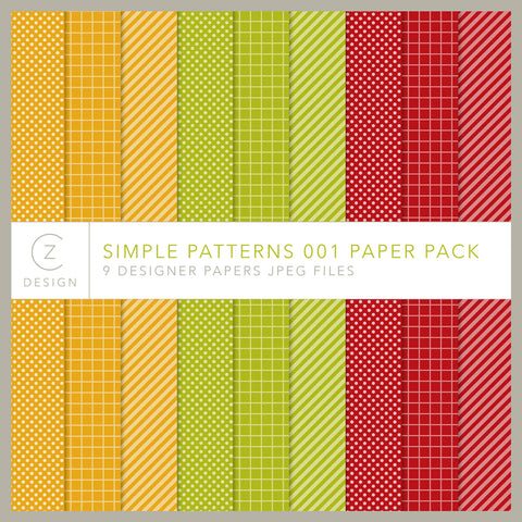 Simple Patterns 001 Paper Pack