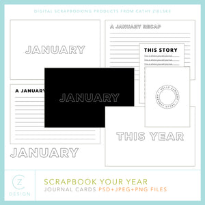 Scrapbook Your Year Journal Cards