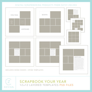 Scrapbook Your Year Templates
