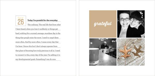 30 Days of Thankful 2014 Album Template Set