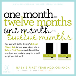 Baby's First Year Add-On Pack Digital Stamps
