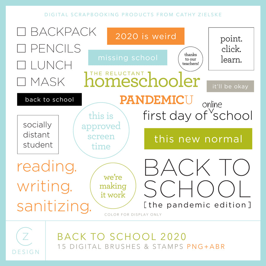 Back to School 2020 Digital Stamps