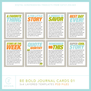 Be Bold 01 Journal Cards