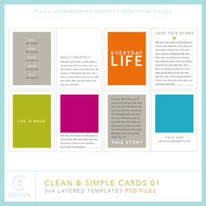 Clean and Simple Cards 01