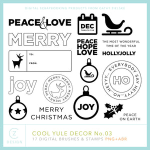 Cool Yule Decor 03 Digital Stamps