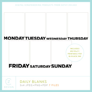 Daily Blanks Cards