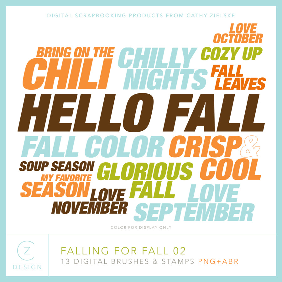 Falling for Fall 02 Digital Stamps