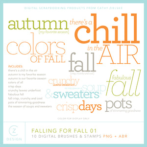 Falling for Fall 01 Digital Stamps