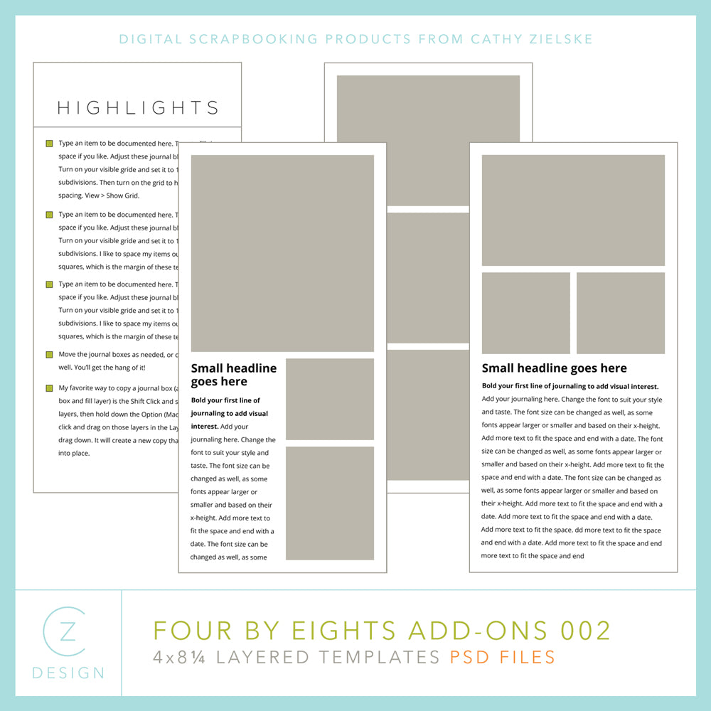 Four by Eights 002 Add-On Template Set