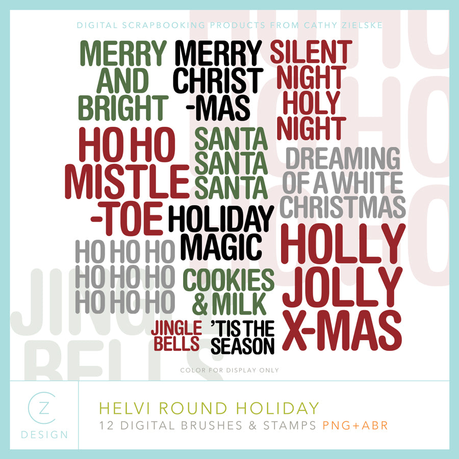 Helvi Round Holiday Digital Stamps