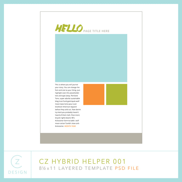Hybrid Helper Template 001