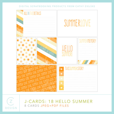 J-Cards: Hello Summer 18