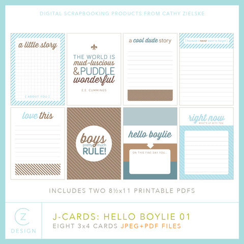 J-Cards: Hello Boylie
