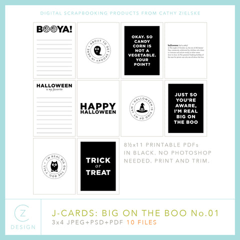 Big on the Boo Pocket Cards