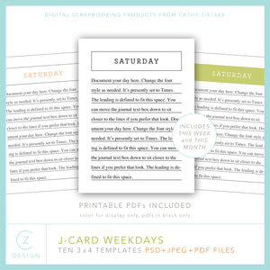 J-Cards: Weekdays