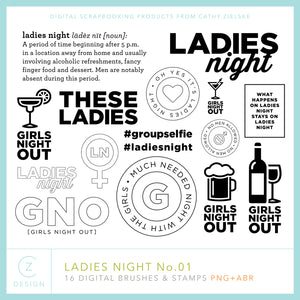 Ladies Night 01 Digital Stamps