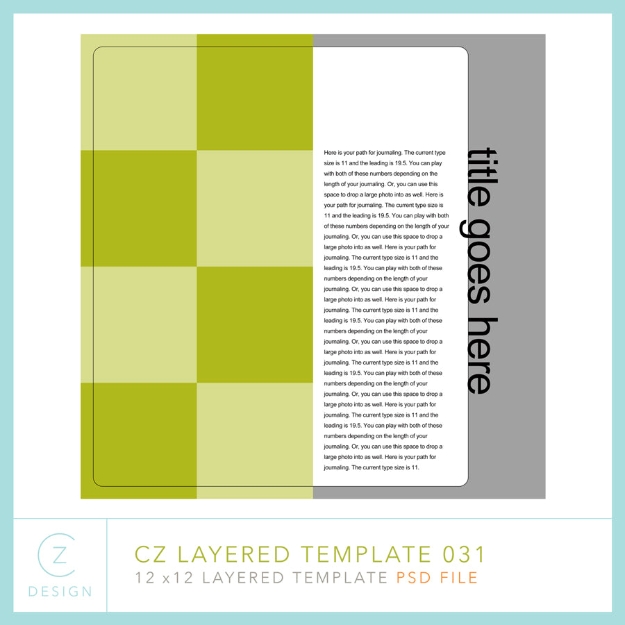 CZ Layered Template 031