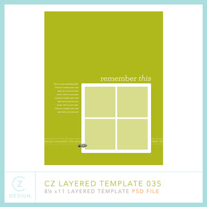 CZ Layered Template 035