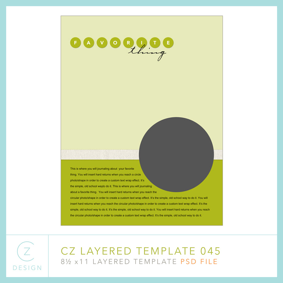 CZ Layered Template 045