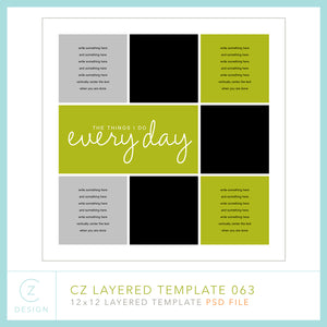 CZ Layered Template 063