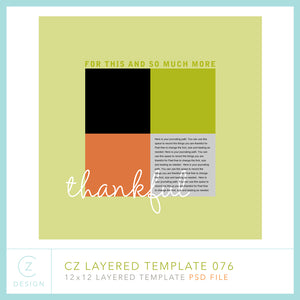 CZ Layered Template 076