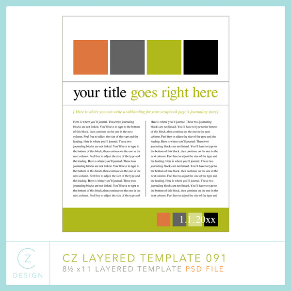 CZ Layered Template 091