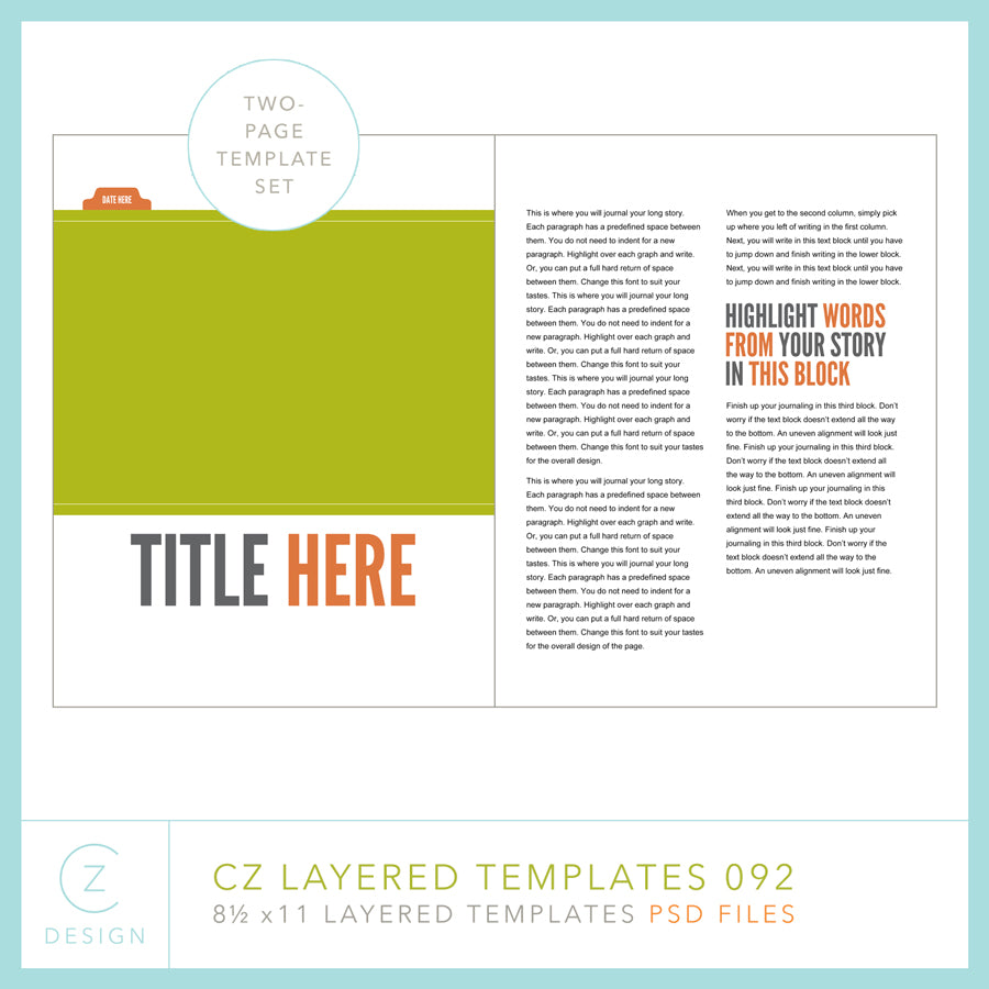 CZ Layered Template 092