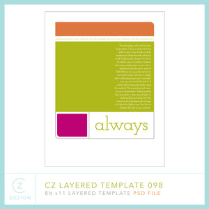 CZ Layered Template 098