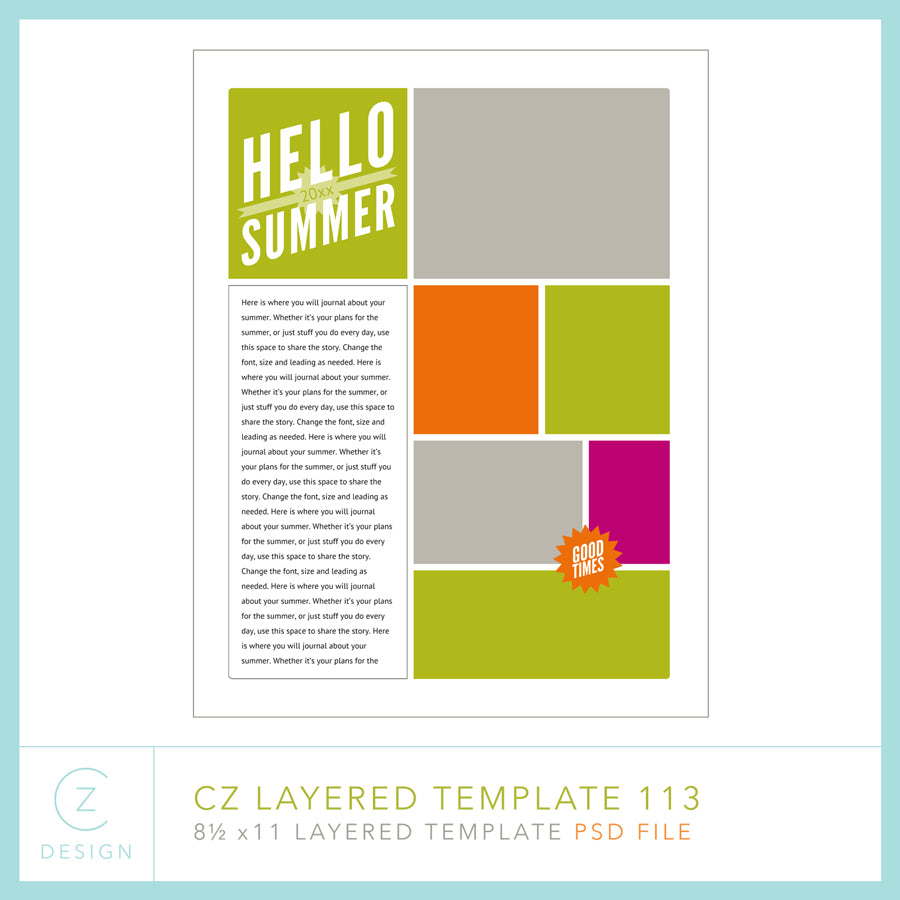 CZ Layered Template 113