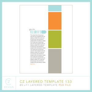 CZ Layered Template 133