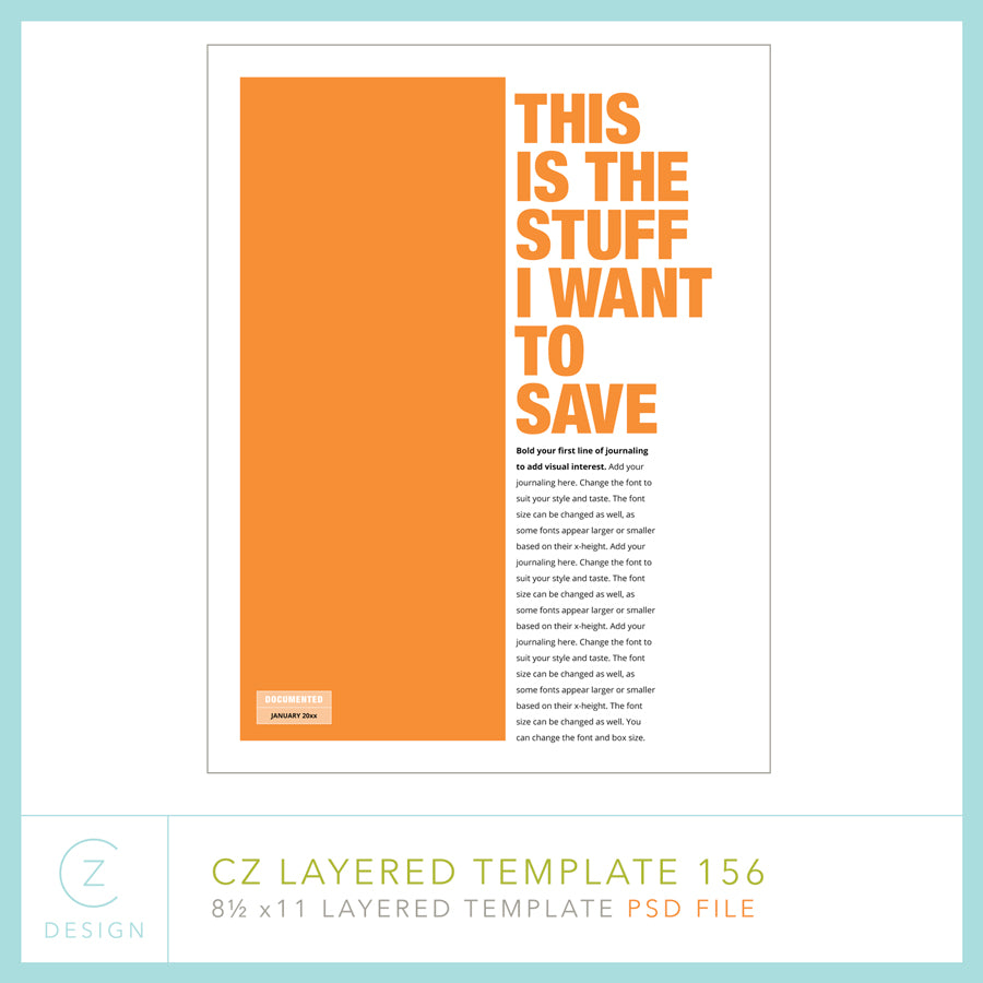 CZ Layered Template 156