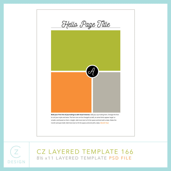 CZ Layered Template 166