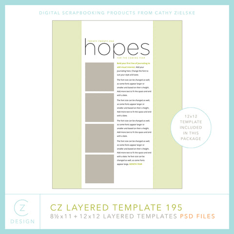 CZ Layered Template 195