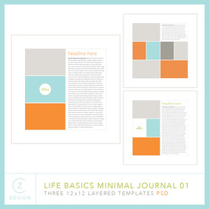 CZ Life Basics Minimal Journal Template Set 01