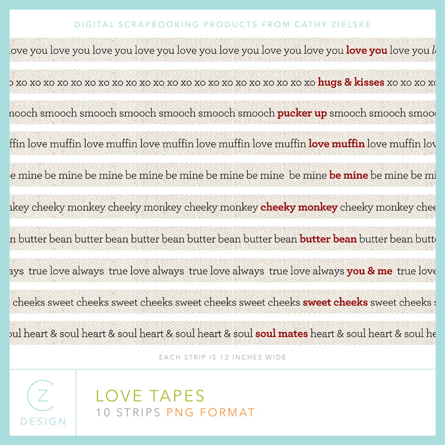 Love Tapes Digital Stamps