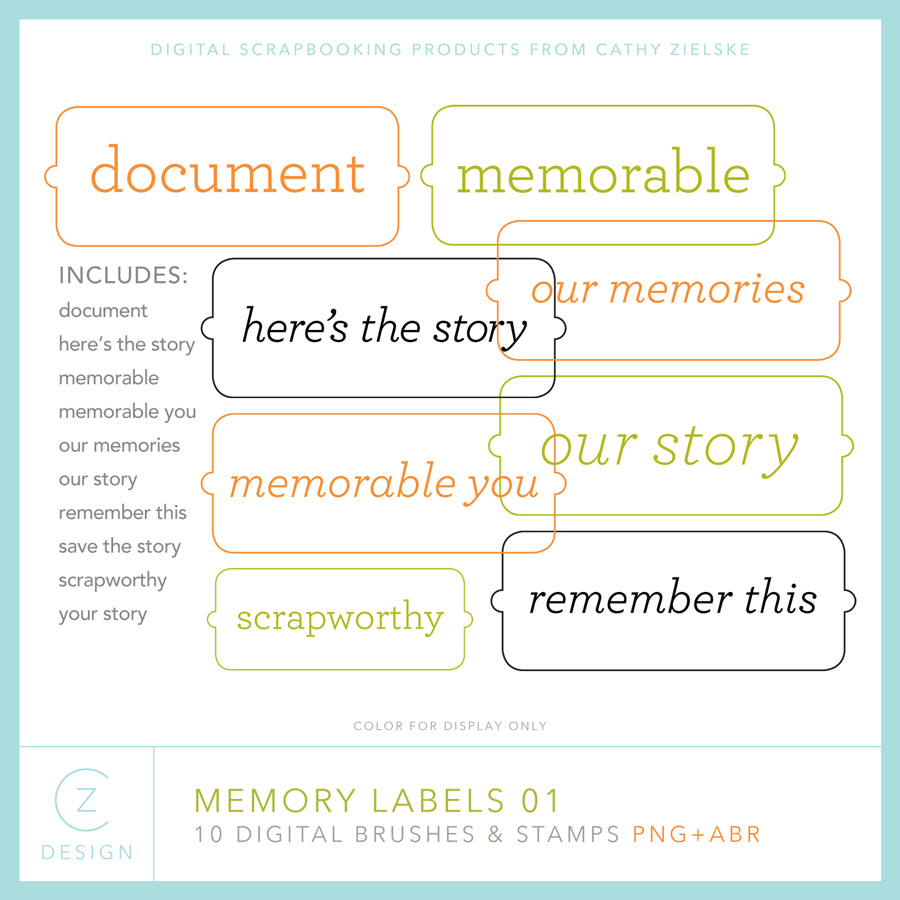 Memory Labels 01 Digital Stamps